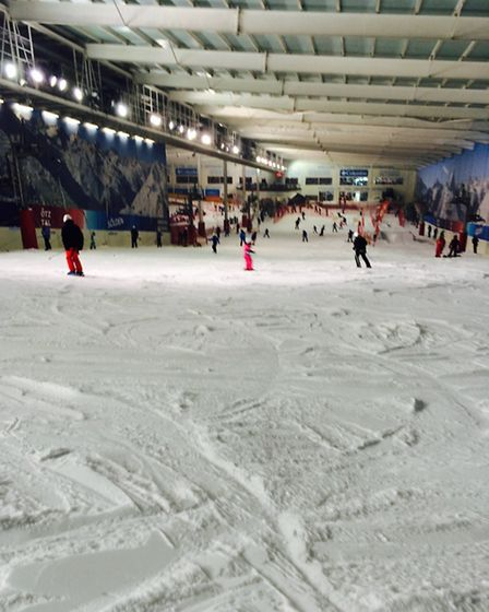 The Snow Centre slope from the top