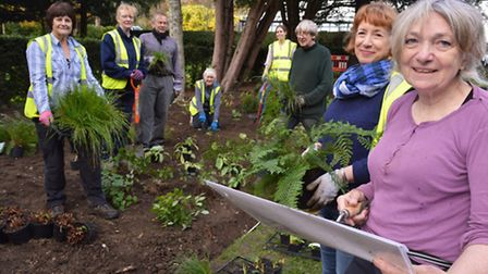 Volunteers plant a new herbaceous border to mark Waterlow Park's 125th anniversary. Picture: Polly H