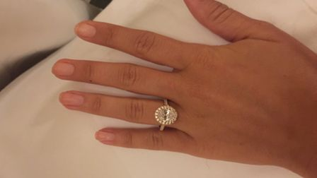 A woman was robbed at knifepoint outside her Maida Vale home and had her £30,000 engagement ring sto
