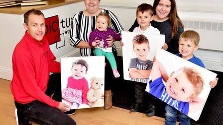 Bonny Babies first prize winners with their prizes. Picture: Nick Butcher.