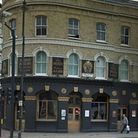 The clubbers were hit outside this bar in Shoreditch (pic: Google)