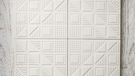 The Chevron tiles combine to form a diamond-shaped outline