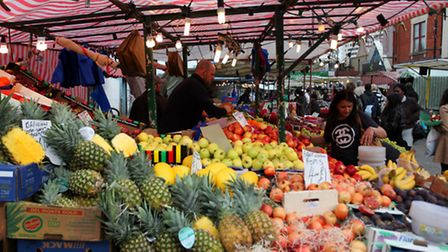 Ridley Road market in Dalston.