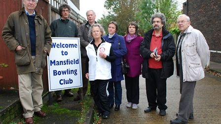 Mansfield Bowling Club site; campaigners 'elated' after devlopment plans scrapped.