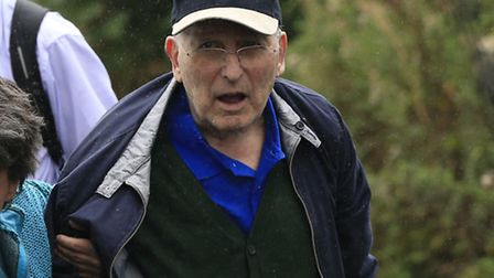 Lord Janner arrives home in Muswell Hill after a court appearance last year Picture: PA/Jonathan B