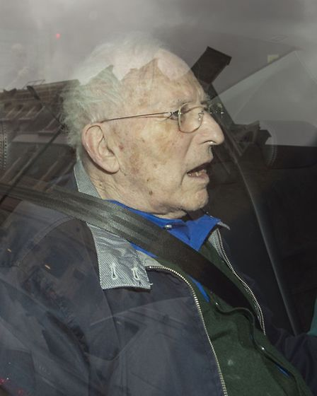 Lord Janner leaves a court appearance by car Picture: PA/Anthony Devlin.
