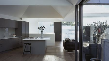 Open plan living space is perpetually popular, as in this London house by VPPR Architects. The trend