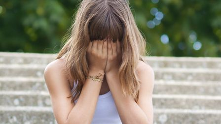 Around one in four girls show significant signs of depression by the age of 14, new research has found. Picture: Getty Images