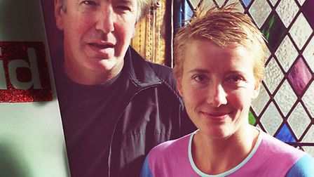 Friends Alan Rickman and Emma Thompson at an event for ActionAid. Photo: Johnny Green/PA Wire