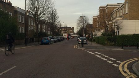 Middleton Road at 8.30am during rush hour