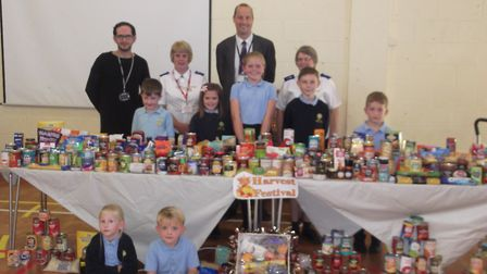 Woods Loke Primary School held a Harvest Festival assembly. Picture: Courtesy of Woods Loke Primary School.