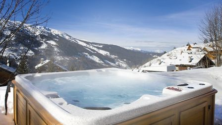 The hot tub at Chalet Club Pierre