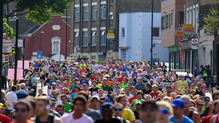 Runners during the inaugural Vitality Run Hackney 2014. Photo Anthony Upton.