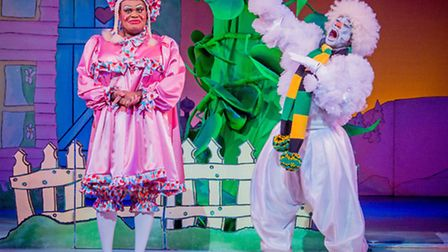 Clive Rowe and Kat B in Jack and the Beanstalk