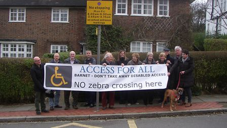A protest was held outside Brooklands School over plans to introduce new traffic calming measures