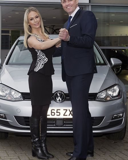 Kristina takes a spin with Alan Day MD Paul Tanner