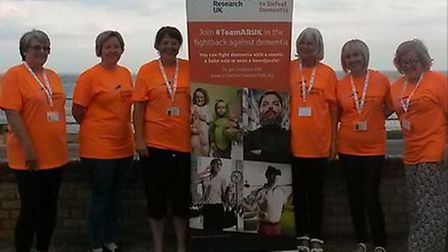 The Alzheimer's Research UK Lowestoft Fundraising Group line up ahead of this weekend's event. Picture: Courtesy of...