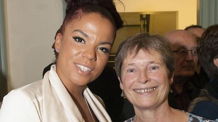 CEO Celia Greenwood, right, with pop star and Wac Arts alumni Ms Dynamite, left