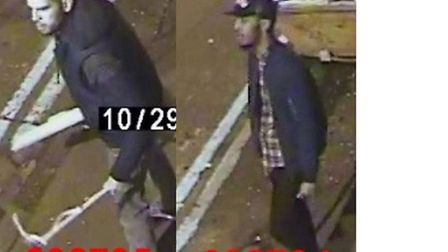 The two men police want to identify