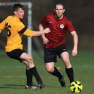 Action from Regent's Park Rovers' (red) 4-0 victory over South London Sharks in the Jack Morgan Cup.