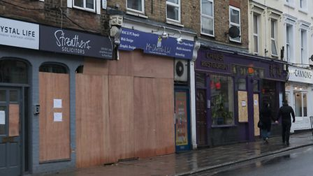 Mr Dweeb Ltd's PC repair shop on Park Road where a car smashed into the front window. Photo: Nigel S