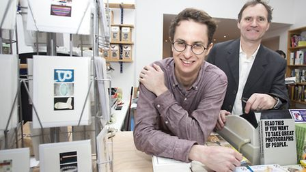 'Do you buy Velcro in a bookshop?': Sam Fisher, left, and Jason Burley (Picture: Isabel Infantes)