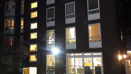 A fire at a sheltered housing block in Belsize Park was apparently caused by a cigarette which had