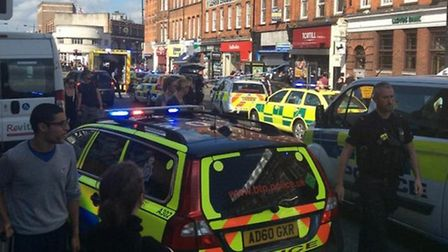 The scene of the attack in Camden High Street photo: Twitter @themmagraham