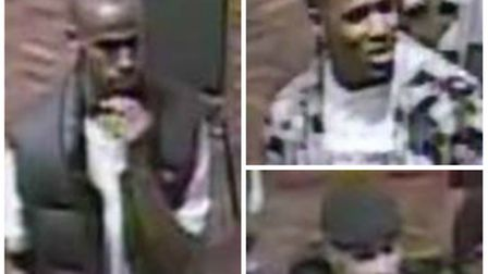 Police want to speak to these men in connection with the shooting