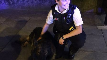 Police dog Regency and PC Smith after Monday's chase