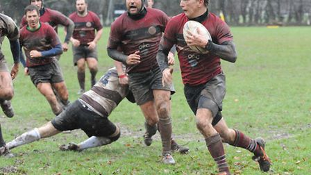 Winger Chris Oulton scored UCS Old Boys' second try against Old Millhillians. Pic: Nick Cook