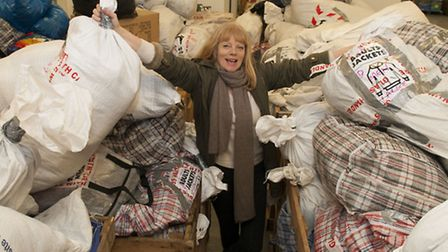 Volunteer aid worker Mary Mc Williams has collected a shipping container's worth of winter clothes t