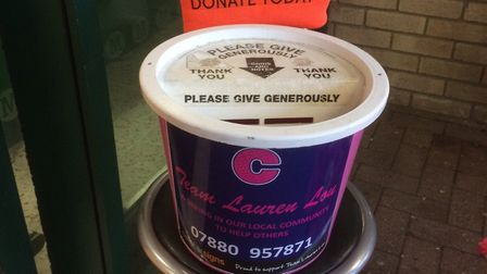 Team Lauren Lou cancer fundraising held two collections. Picture: Courtesy of Team Lauren Lou