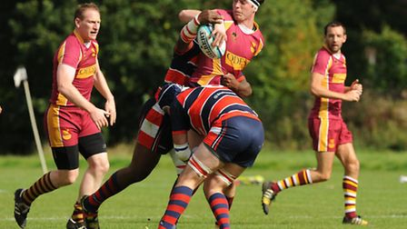 Hampstead's Dan Wigley had a try disallowed against HAC on Saturday. Pic: Paolo Minoli