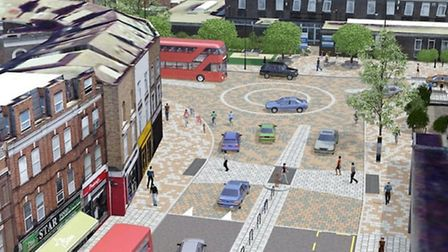 An artists impression of the redesign for the junction at Lower Clapton Road/Urswick Road. Credit: T