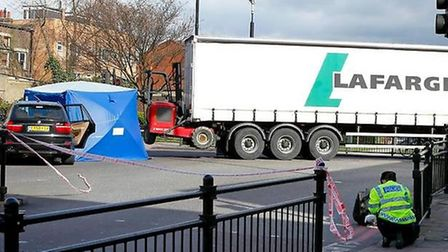 Scene of the crash where an 83-year-old died after being knocked down by a lorry in 2011