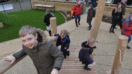 Children in the playground at St Johns church