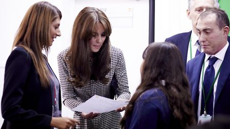 HRH The Duchess of Cambridge during her visit to the centre in September