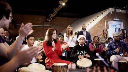 HRH The Duchess of Cambridge performing at the centre's Christmas party