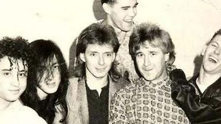 Garry Johnson with the Stone Roses who he used to manage