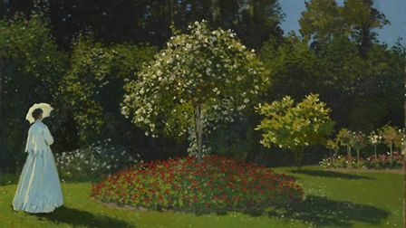 Claude Monet, Lady in the Garden, 1867. Picture: The State Hermitage Museum/Vladimir Terebenin