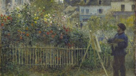 Auguste Renoir, Monet Painting in His Garden at Argenteuil, 1873. Picture: Wadsworth Atheneum Museum