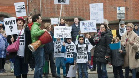 School children & local residents march around Hampstead to protest over New End Nurses Home develop