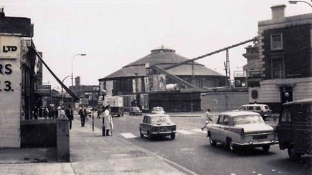 Chalk Farm Road looking south towards the Roundhouse in 1967 (All pictures courtesy of Camden Counci