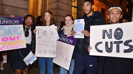 Picture: Polly Hancock From left Bridget Okhioigbe (15), Hannah Morris Camden Youth MP, Emma Elking