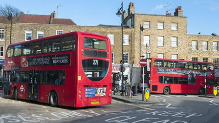 TFL have announced plans to move the 271 bus terminus from South Grove to North Road. Picture: Nige