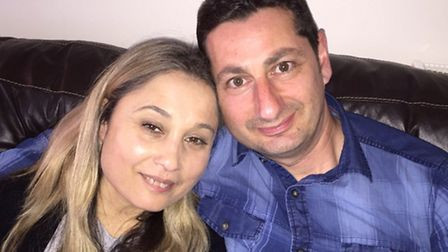 Maria Fletcher, pictured with her husband, was infected with hep C at University College Hospital