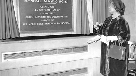 The Queen Mother opening the hospice