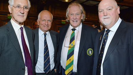 Testemonial dinner at UCS for former sports teacher Bill Jones. Pictured from left, Mike Brearley, C