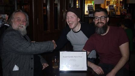 The Cock Tavern was named the most beard friendly pub